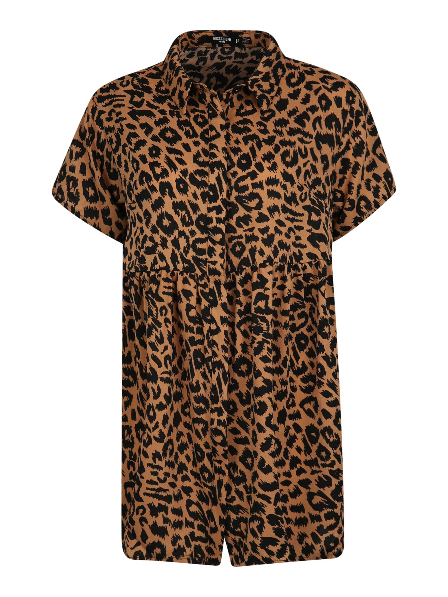 Missguided (Petite) Palaidinės tipo suknelė ruda / juoda