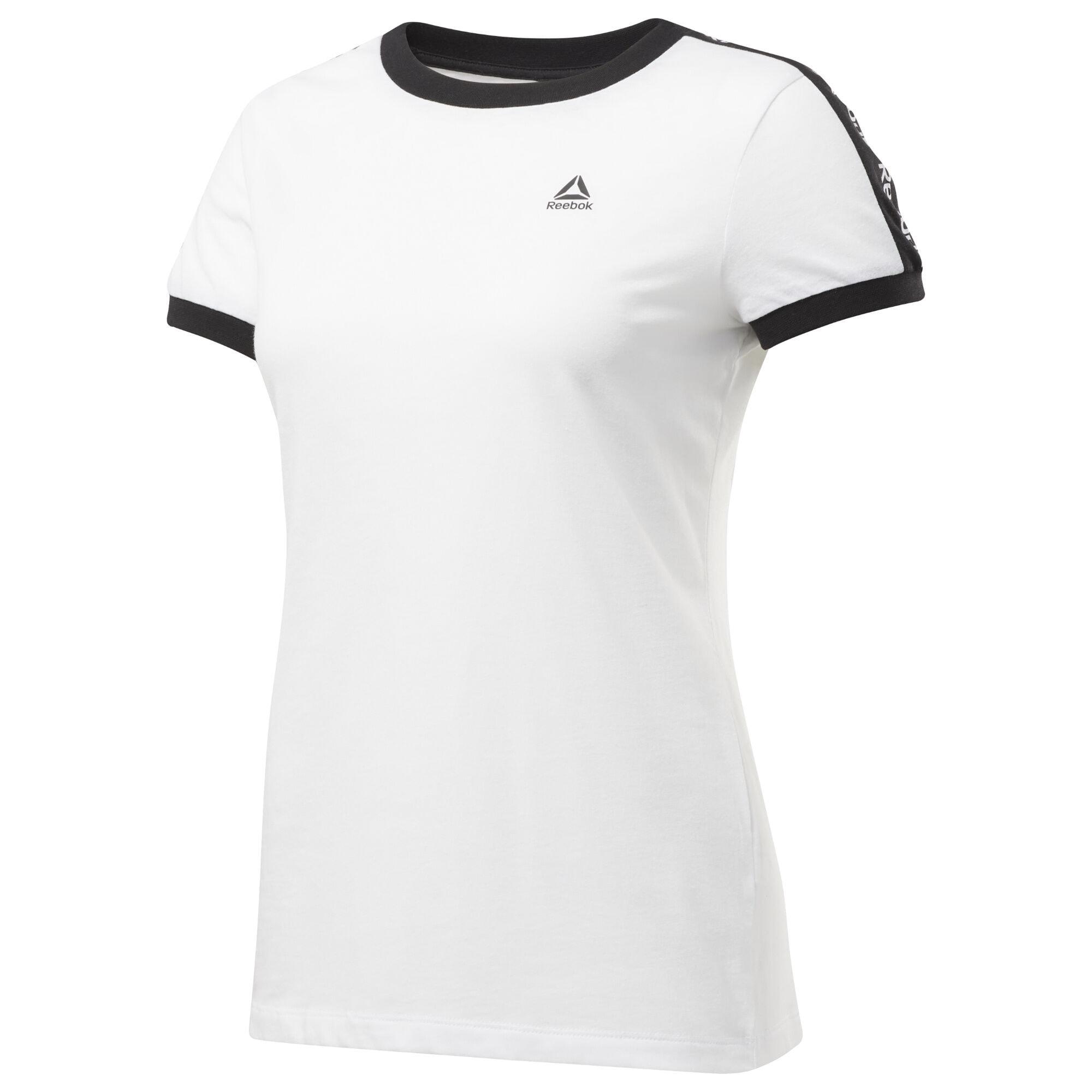 REEBOK Sportiniai marškinėliai 'Training Essentials Linear Logo' balta