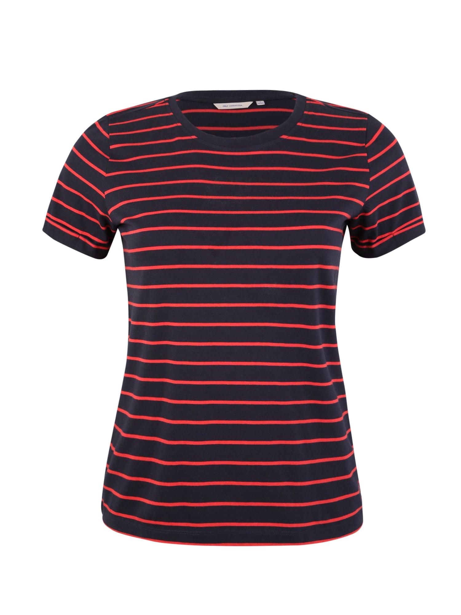 Tričko tmavě modrá vínově červená ONLY Carmakoma