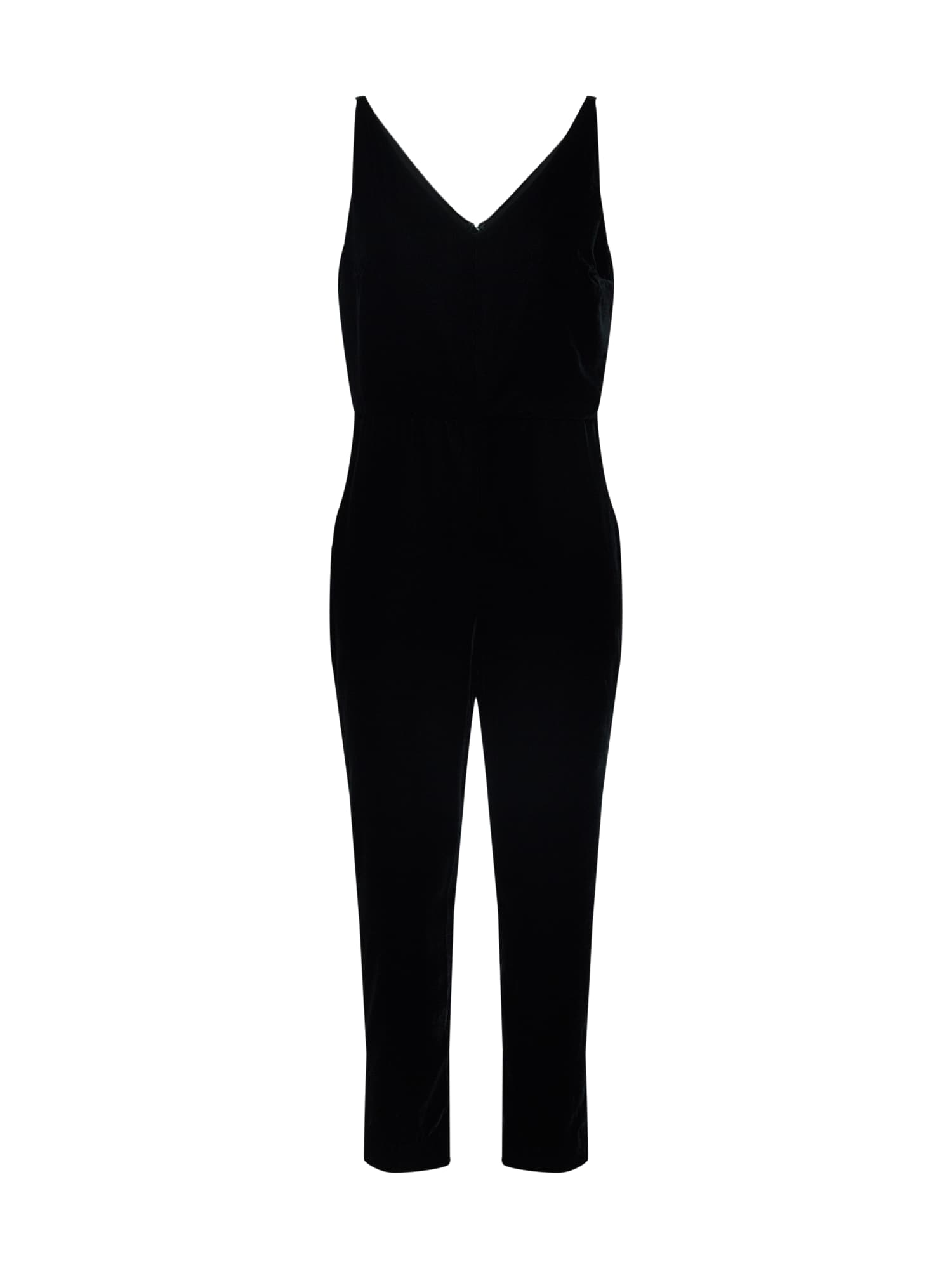 Banana Republic Kombinezono tipo kostiumas 'SL STRAPPY JUMPSUIT VELVET' juoda