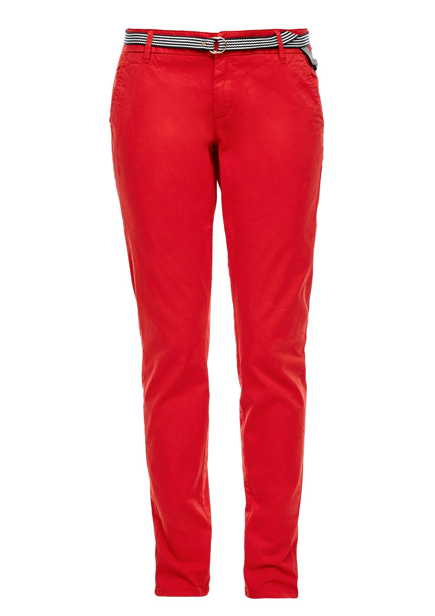s.Oliver Chino stiliaus kelnės 'Tapered' raudona