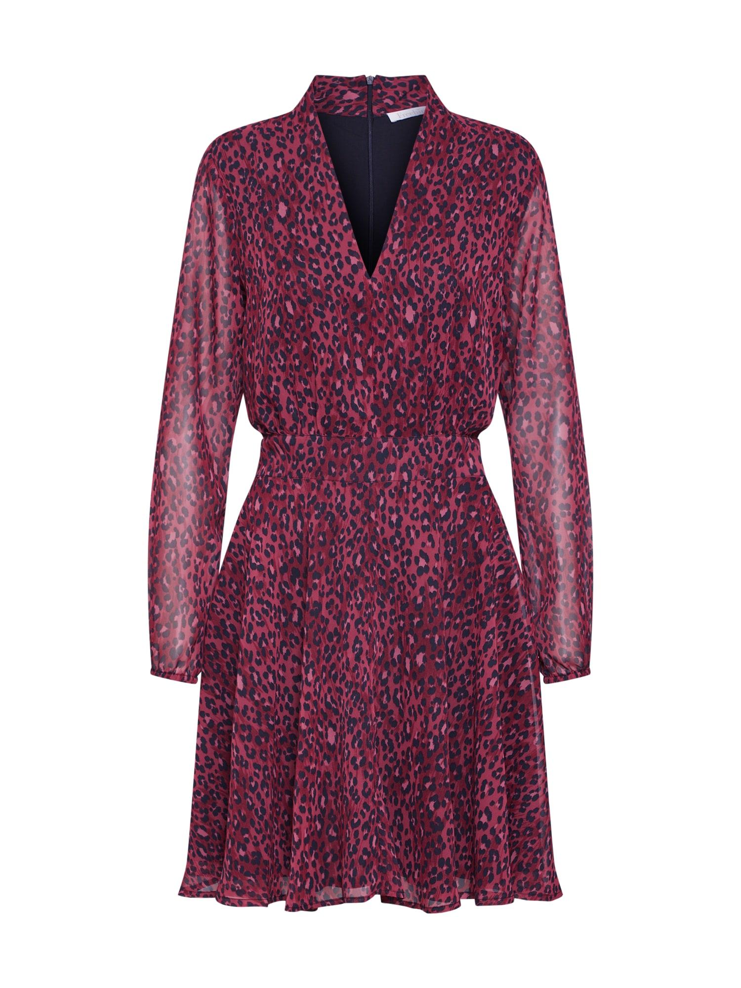 Letní šaty burgundská červeň černá Freebird