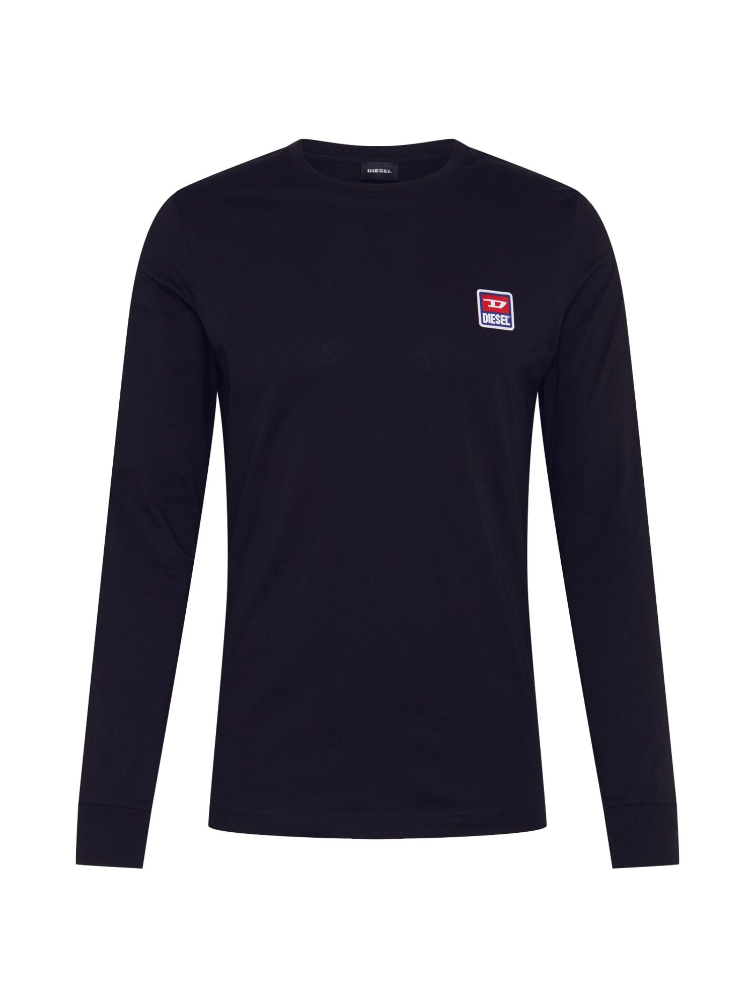DIESEL Marškinėliai 'T-DIEGO-DIV-LS PULLOVER' juoda