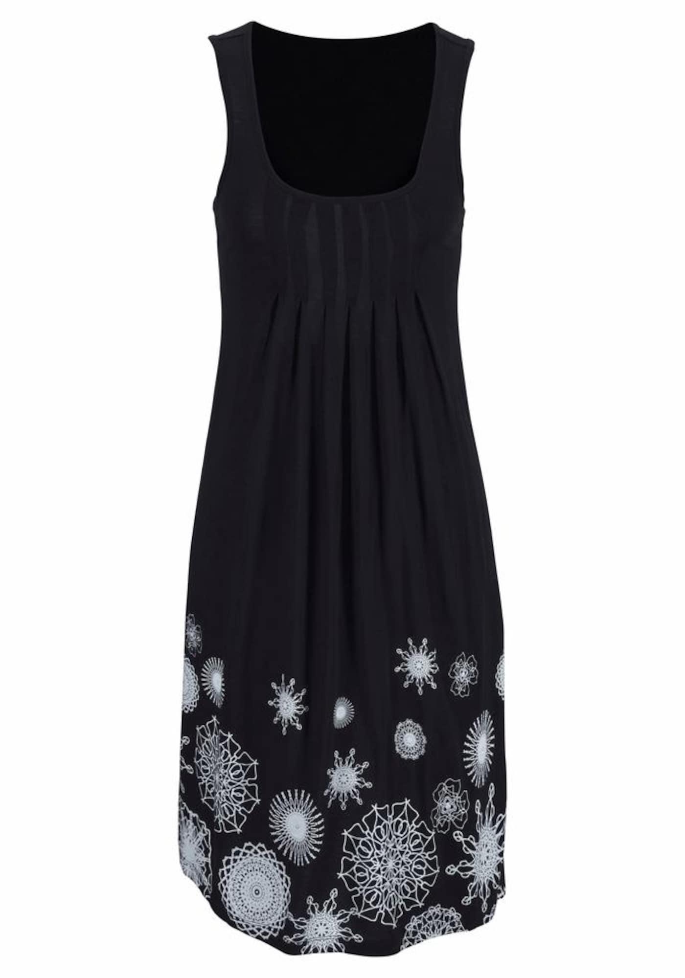 BEACH TIME Paplūdimio suknelė juoda / balta
