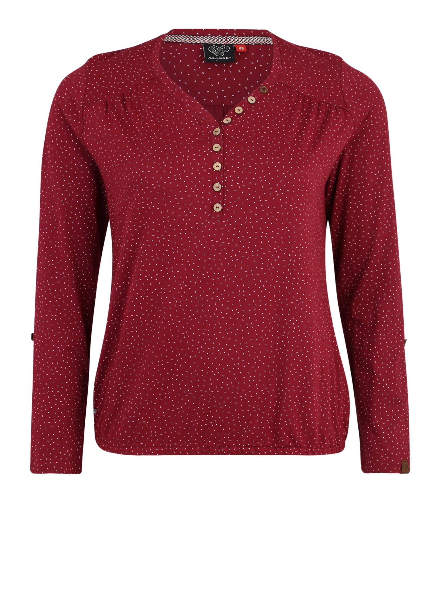 Ragwear Plus Marškinėliai 'PINCH' vyno raudona spalva
