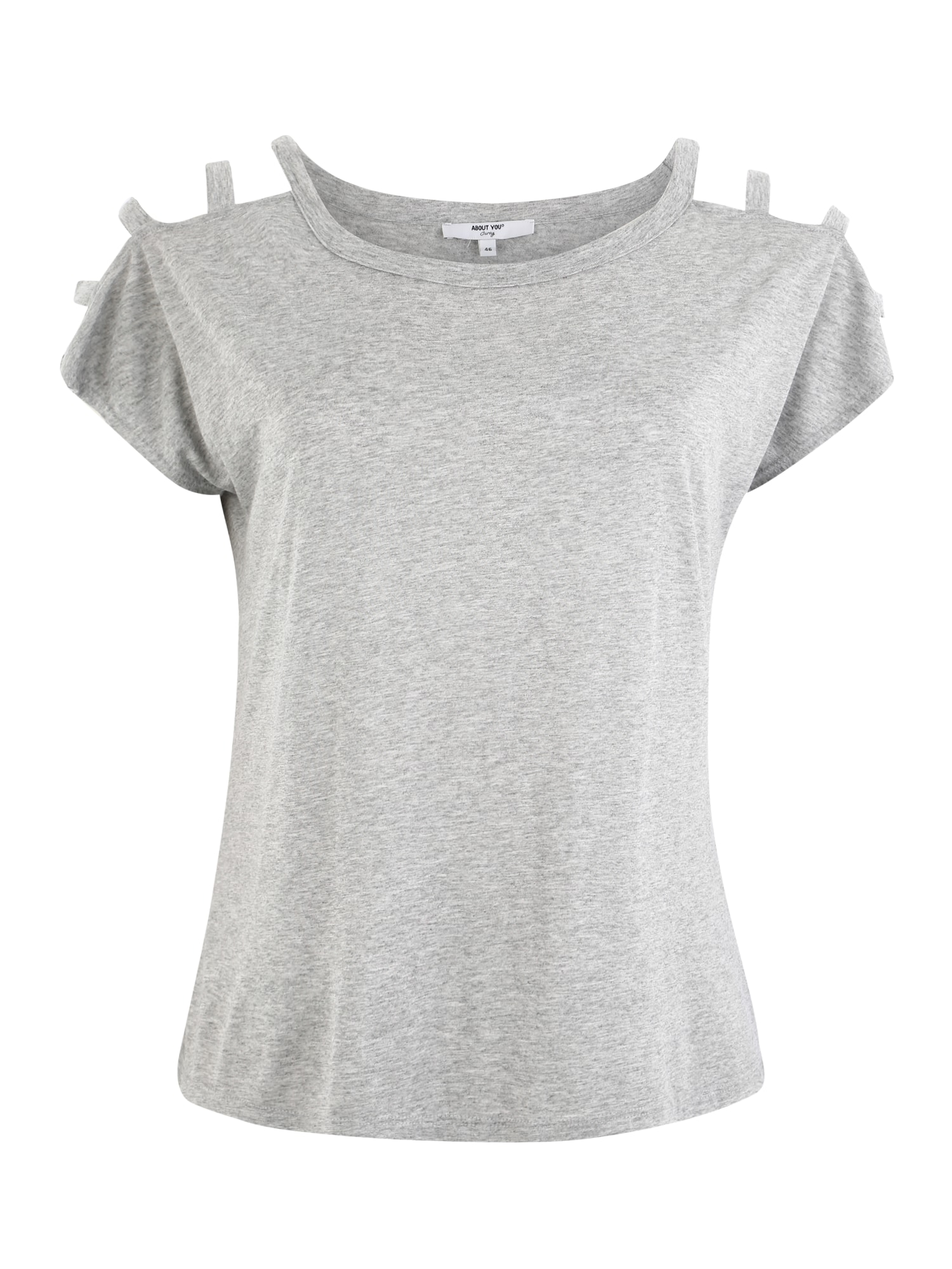 ABOUT YOU Curvy Marškinėliai 'Loryn' margai pilka