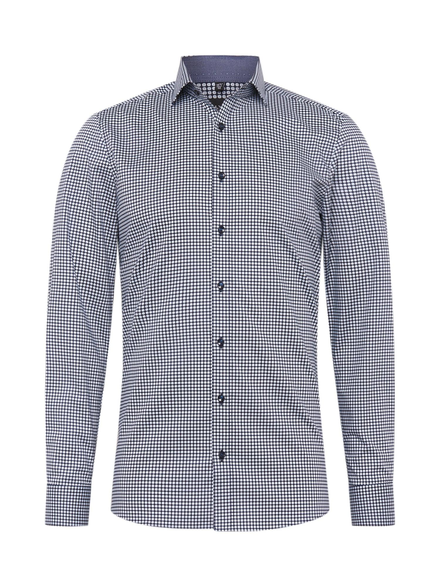 OLYMP Marškiniai mėlyna / balta