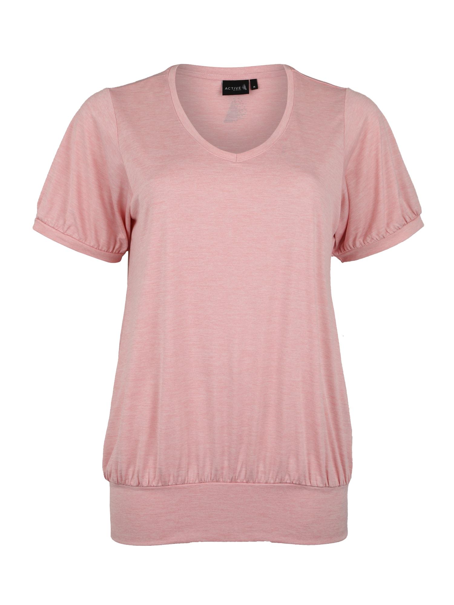 Funkční tričko FRANCISCO růžová Active By Zizzi