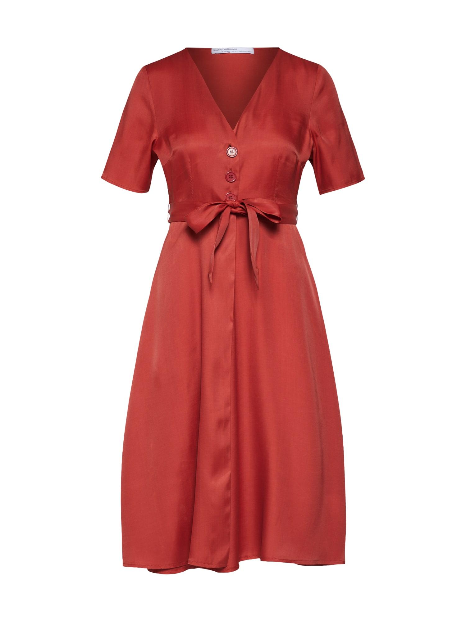 Šaty Tijen rezavě červená ABOUT YOU X Gizem Emre