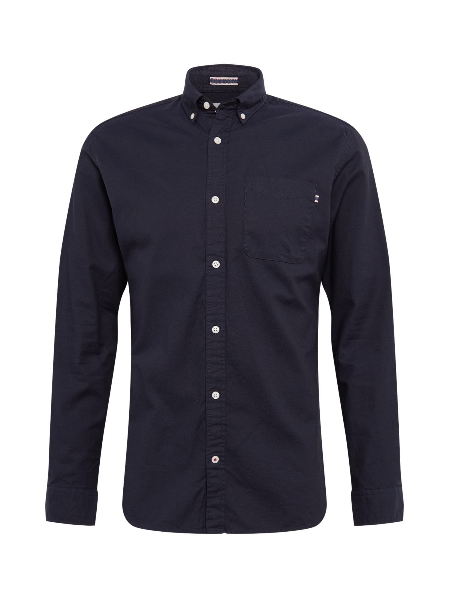 JACK & JONES Dalykinio stiliaus marškiniai tamsiai mėlyna
