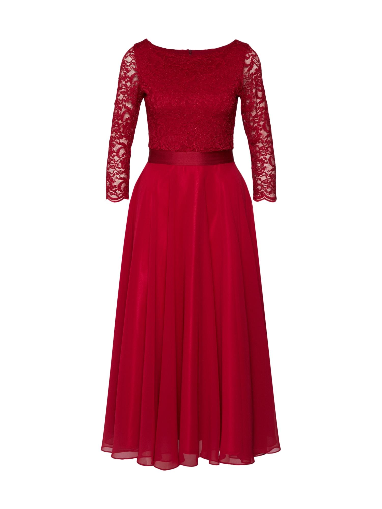SWING Vakarinė suknelė vyno raudona spalva