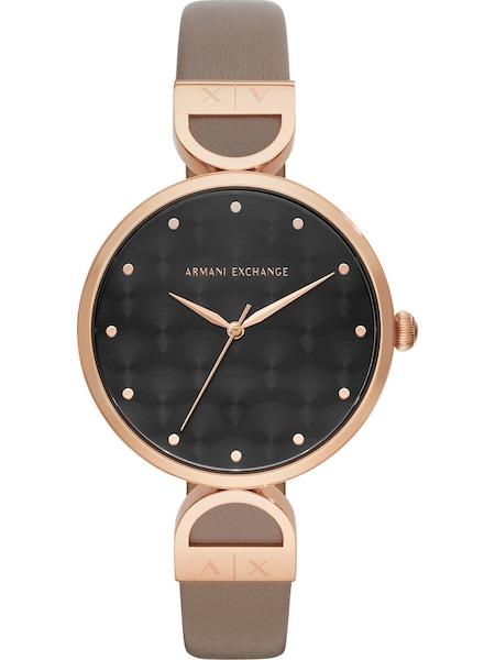 Uhren für Frauen - Emporio Armani Armbanduhr rosegold greige  - Onlineshop ABOUT YOU