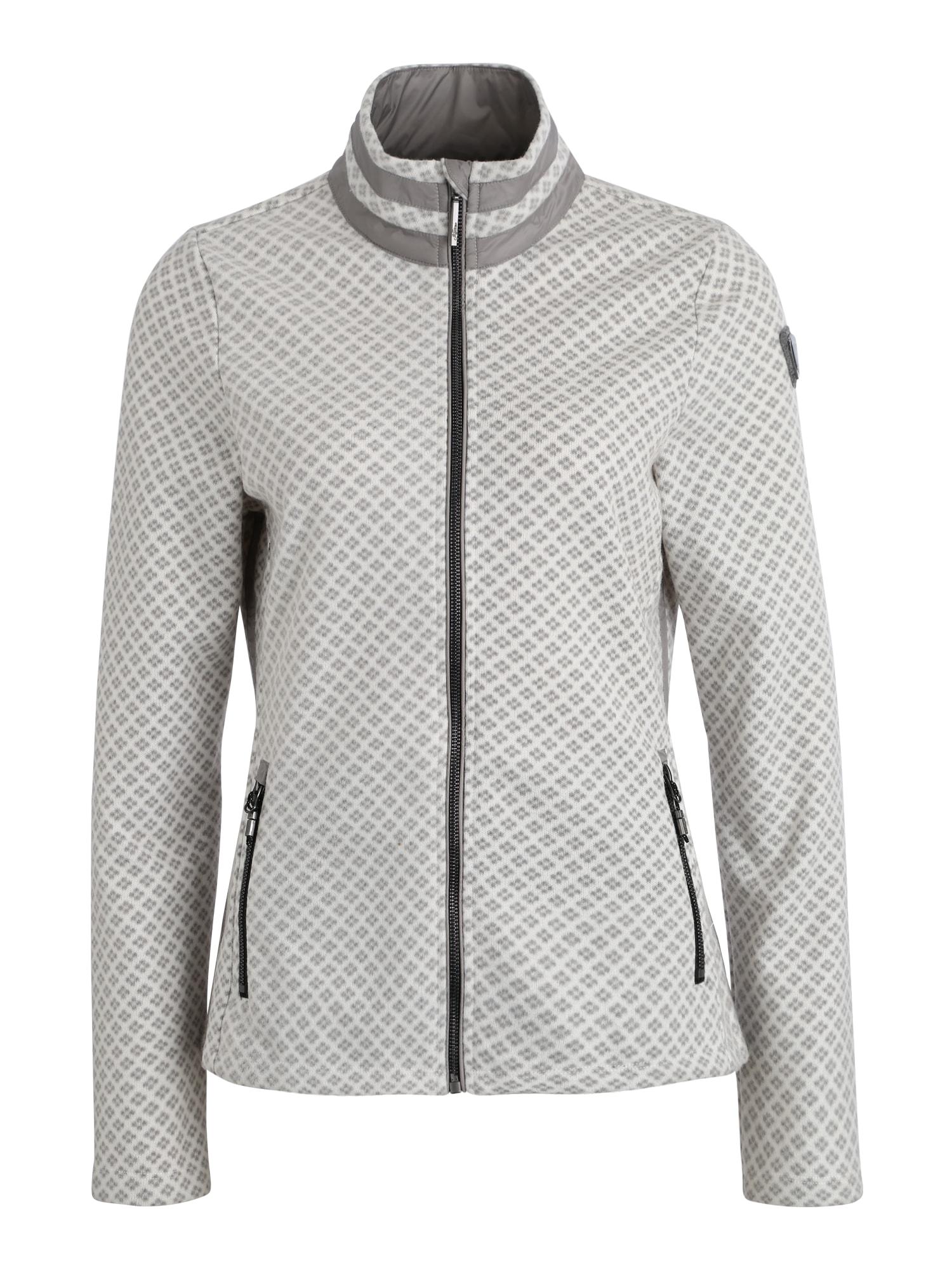 KILLTEC Sportinio tipo megztinis 'Tanalie' balta / pilka