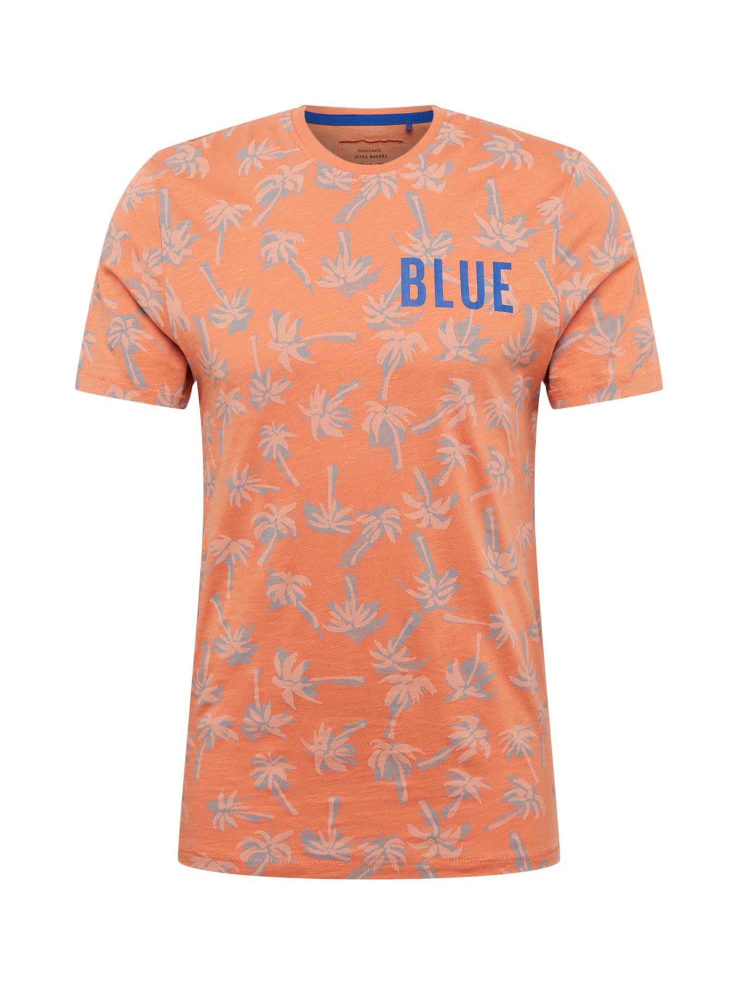 Tričko modrá jasně oranžová Only & Sons