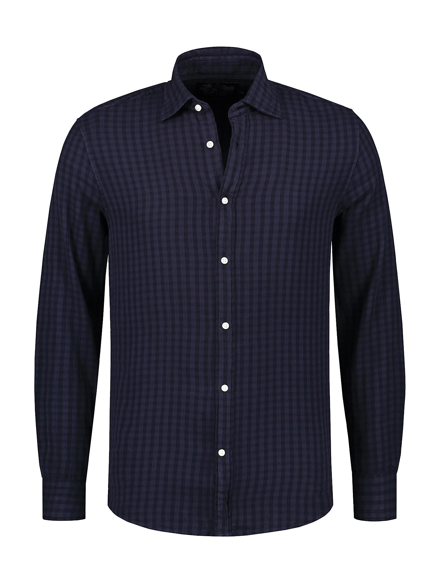 Shiwi Dalykiniai marškiniai 'David vichy' tamsiai mėlyna