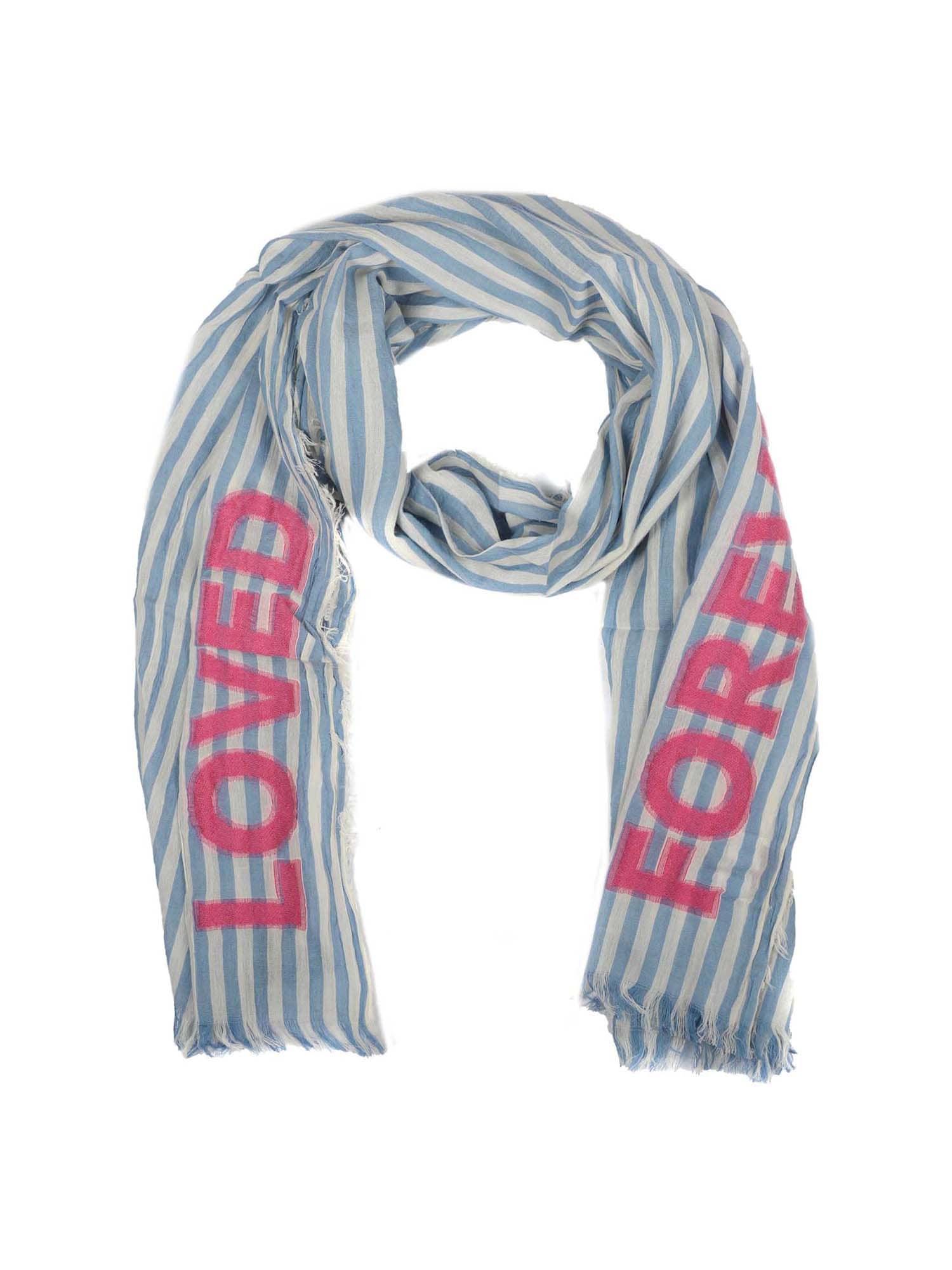 Šátek Loved forever modrá pink Zwillingsherz