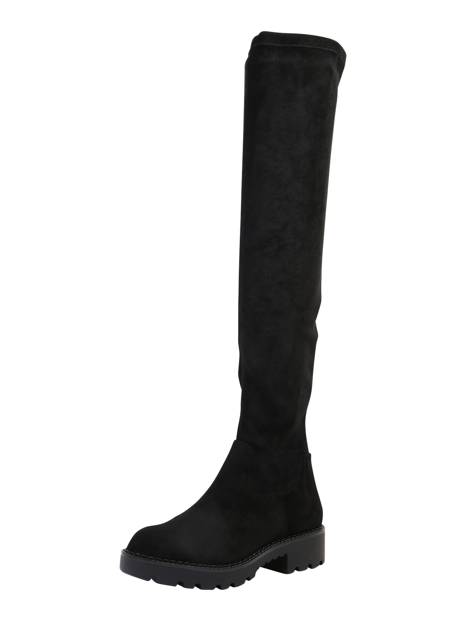 BUFFALO Ilgaauliai batai virš kelių 'Myrna' juoda