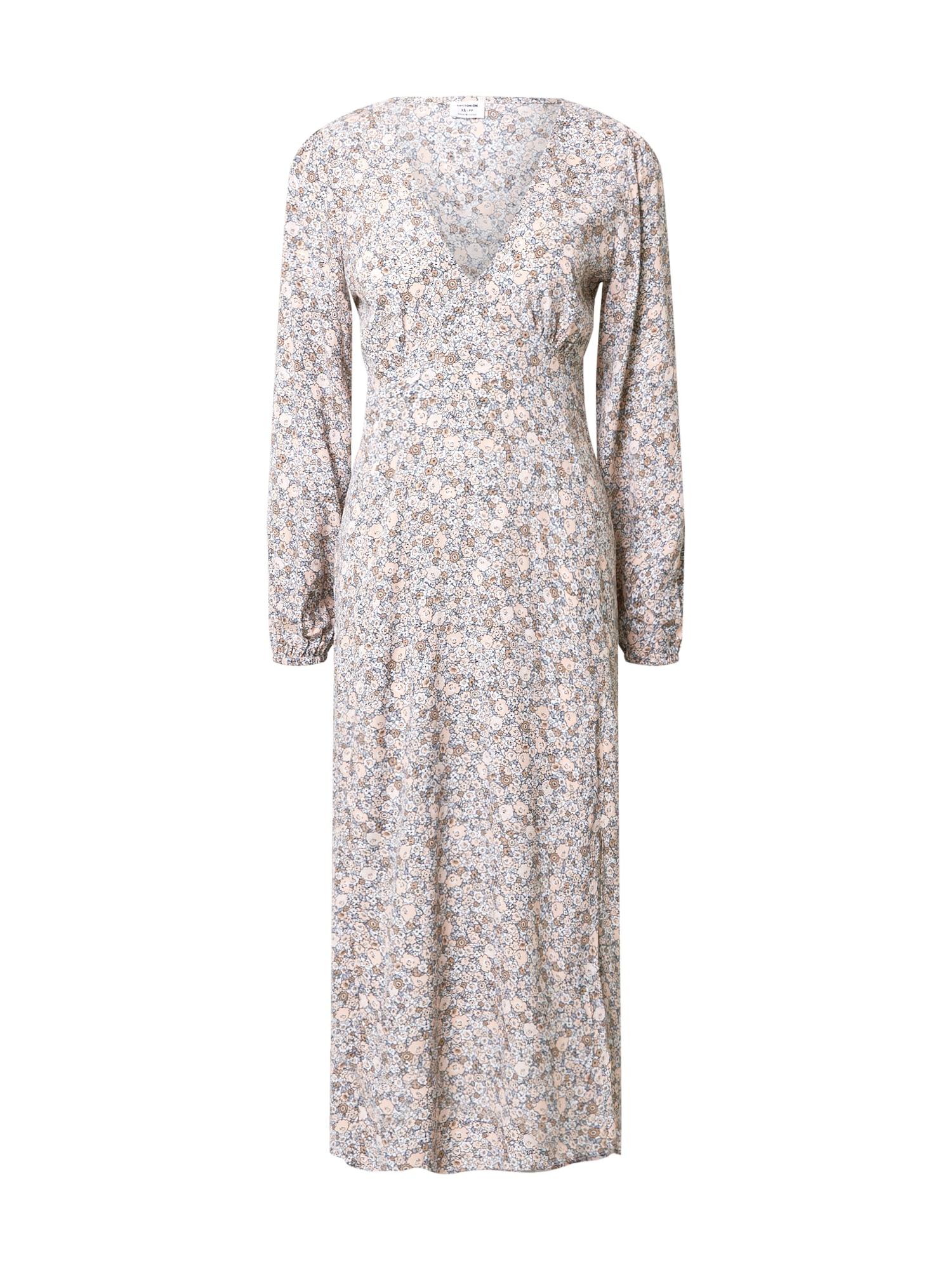 Cotton On Suknelė balta / mėlyna / šviesiai ruda / smėlio
