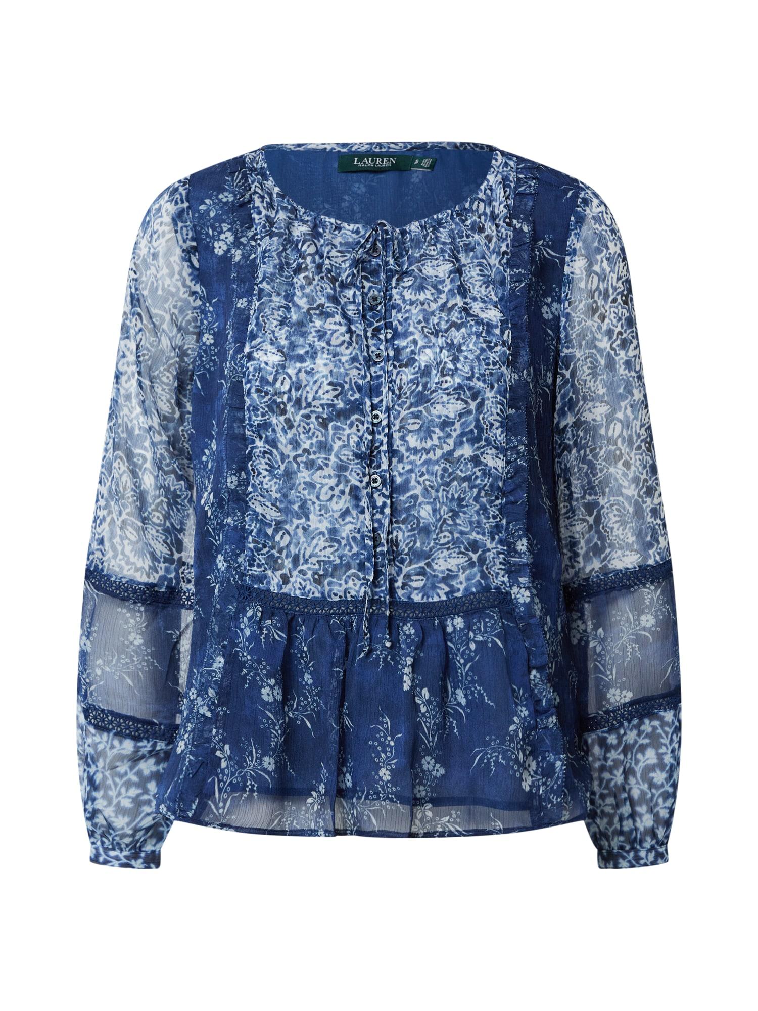 Lauren Ralph Lauren Bluză 'Chanan'  albastru închis / alb