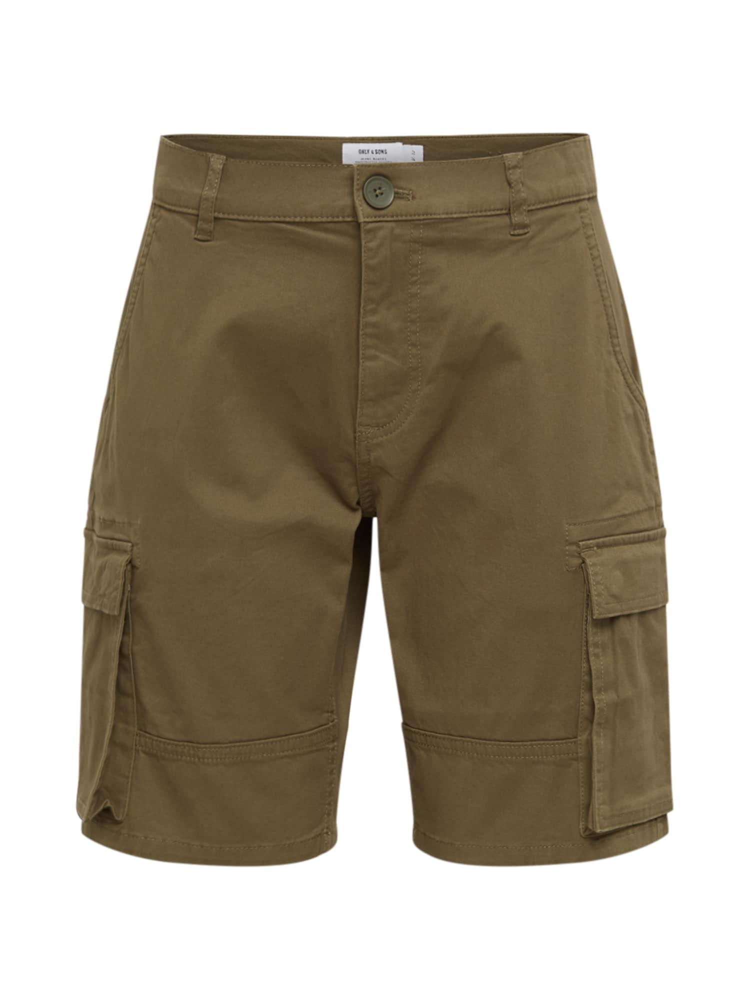 Only & Sons Laisvo stiliaus kelnės 'CAM' alyvuogių spalva