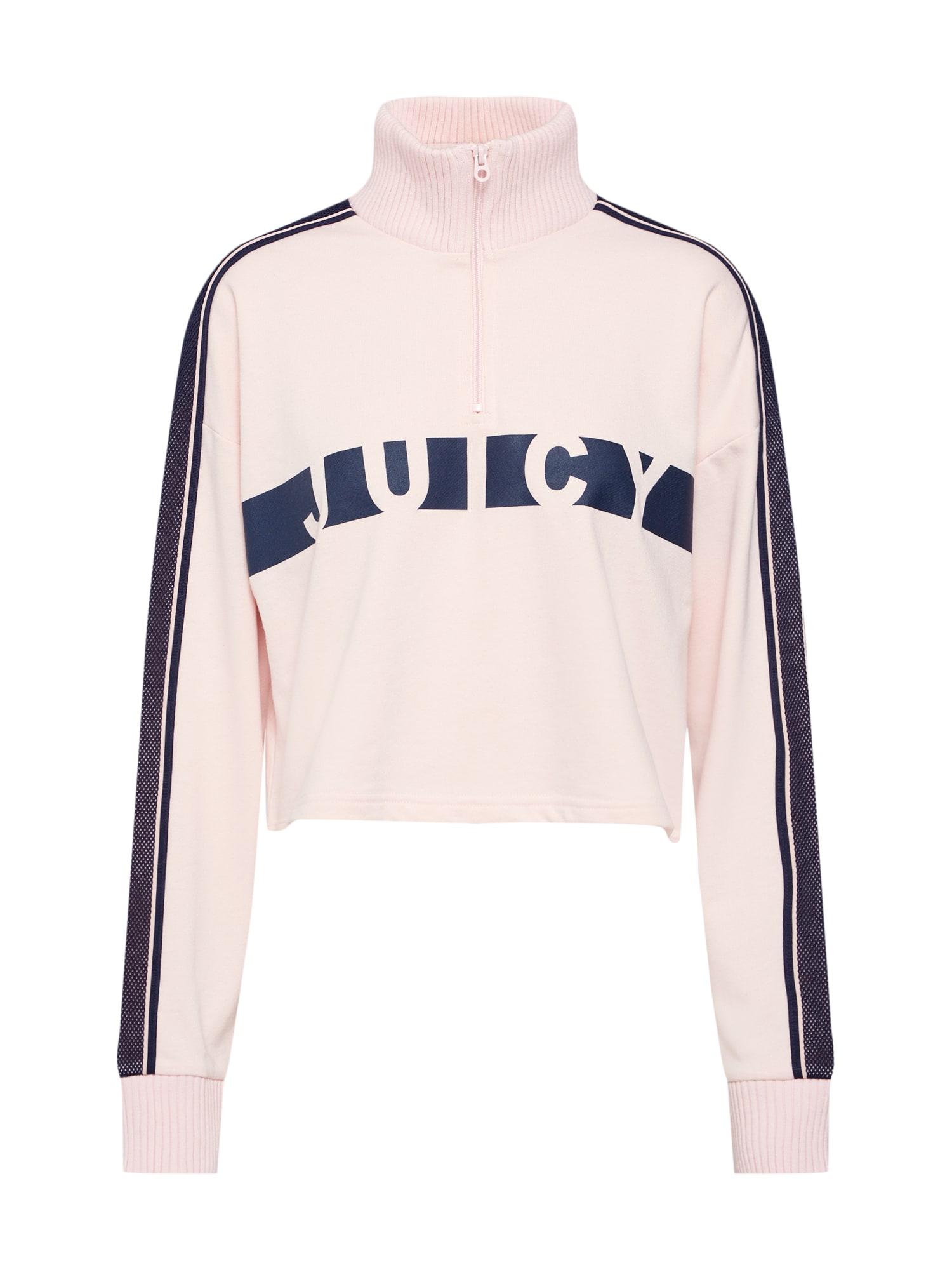 Mikina Racer Terry námořnická modř růžová Juicy By Juicy Couture