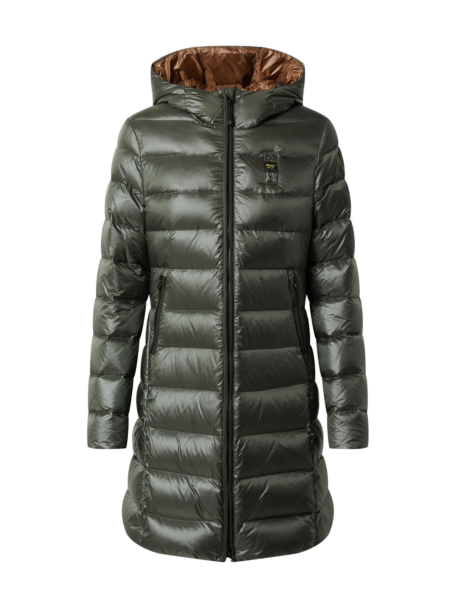 Blauer.USA Žieminis paltas rusvai žalia