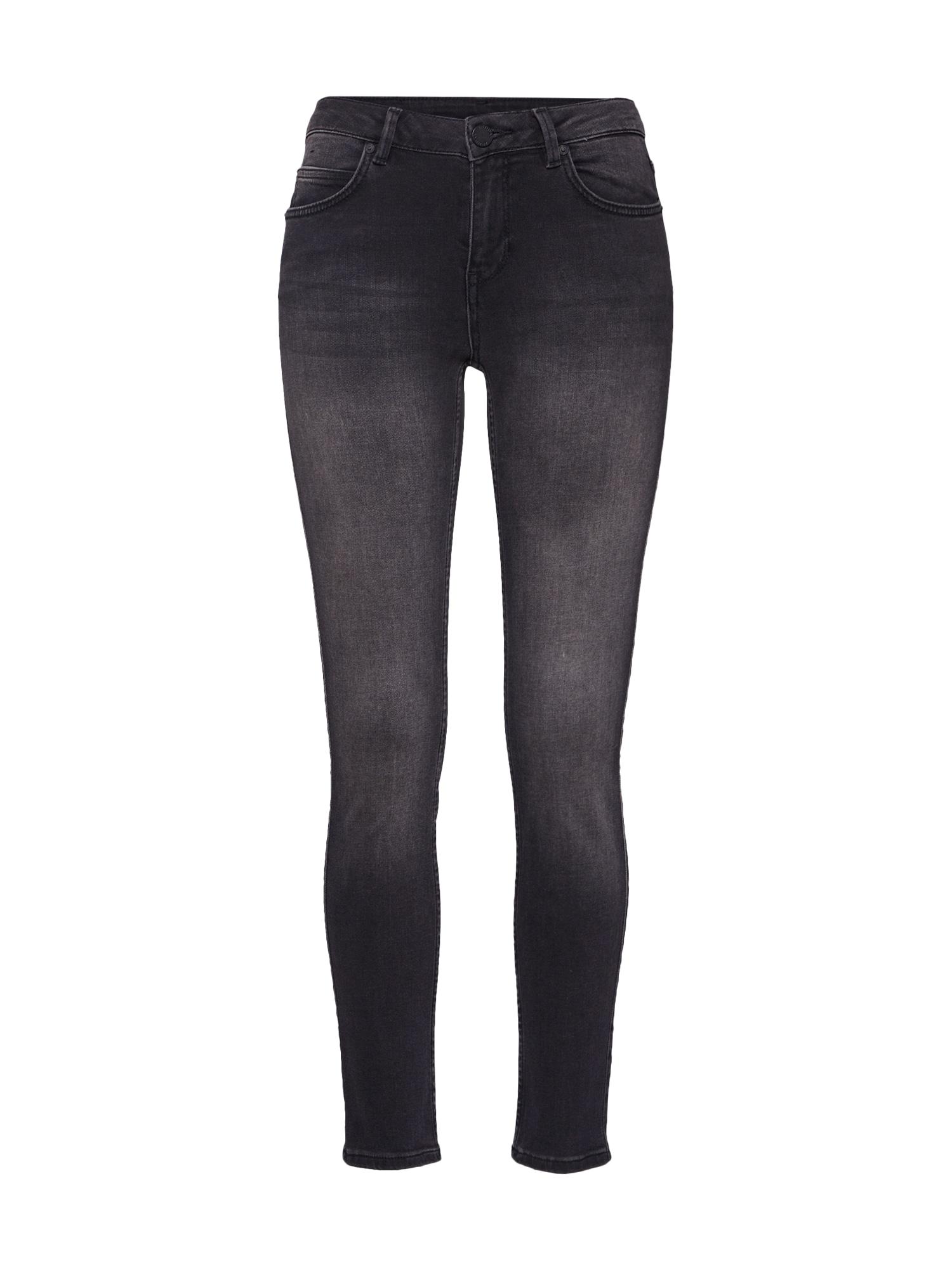 2NDDAY Džinsai 'Sally Cropped Racer' juodo džinso spalva
