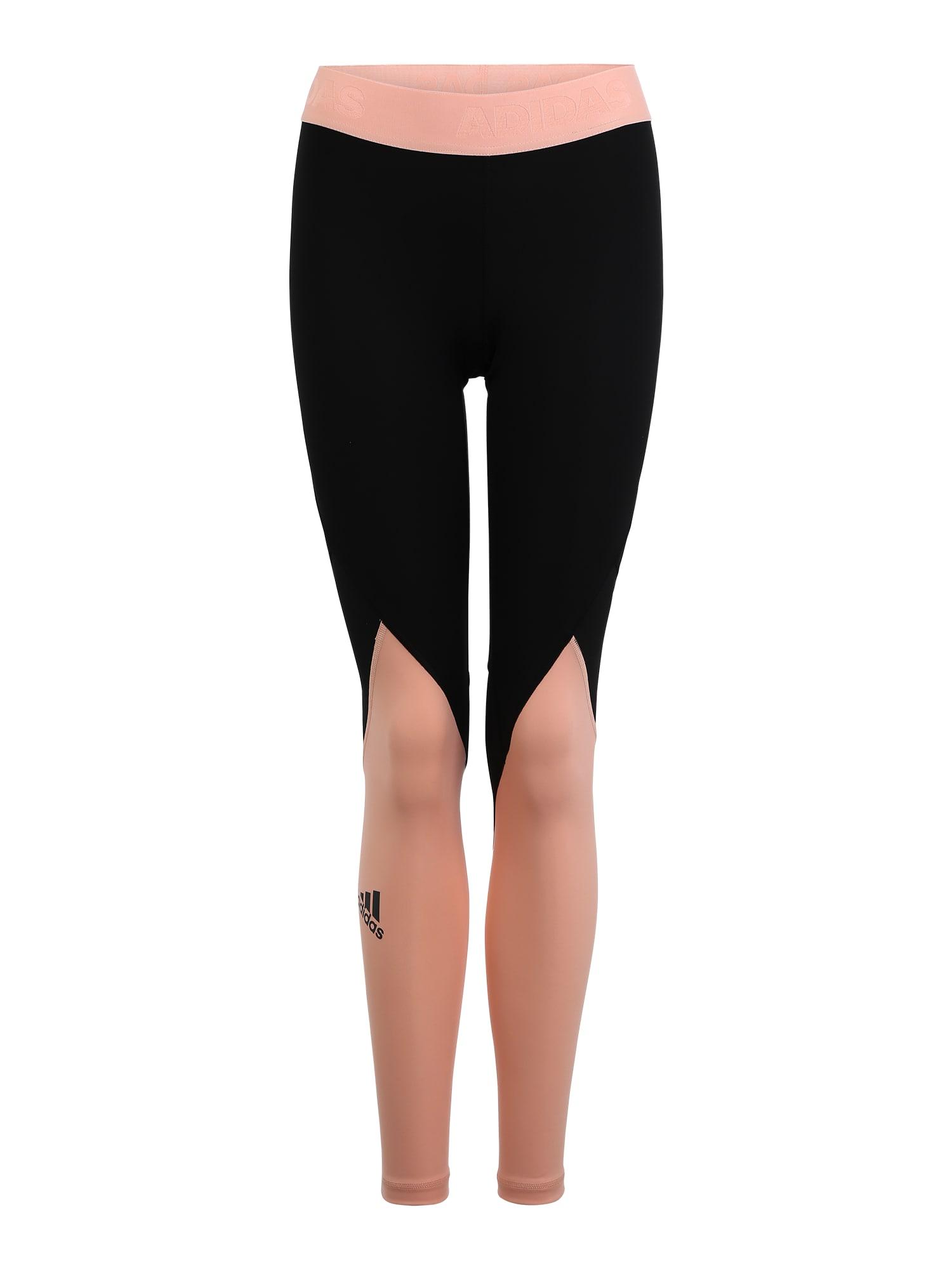 ADIDAS PERFORMANCE Sportovní kalhoty  růžová / černá