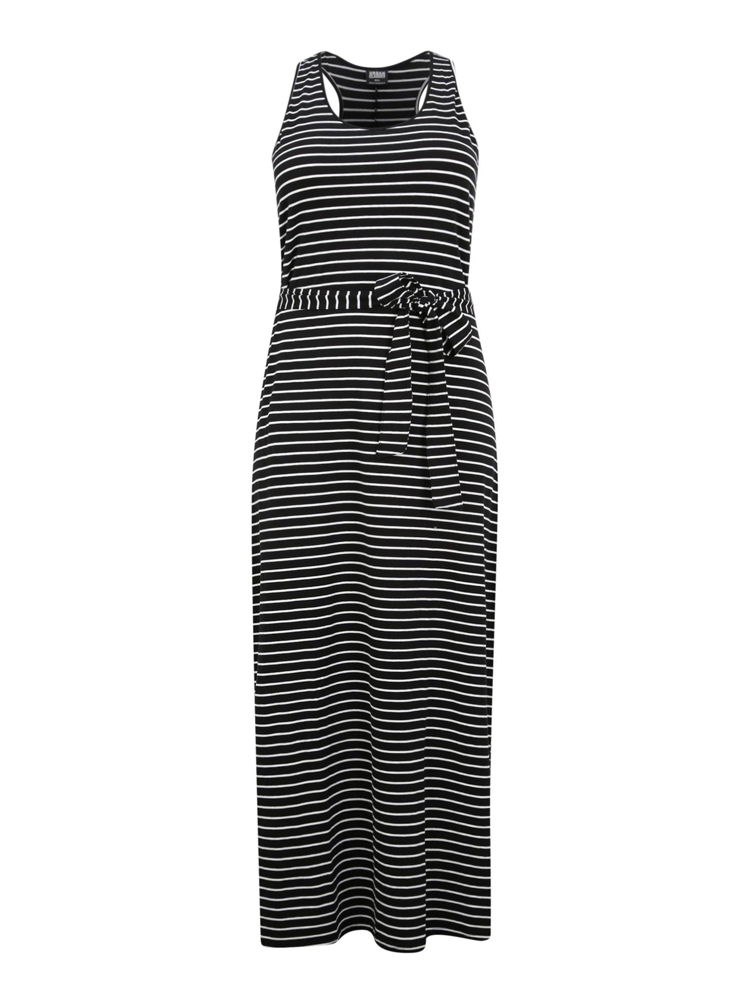 Urban Classics Curvy Vasarinė suknelė balta / juoda