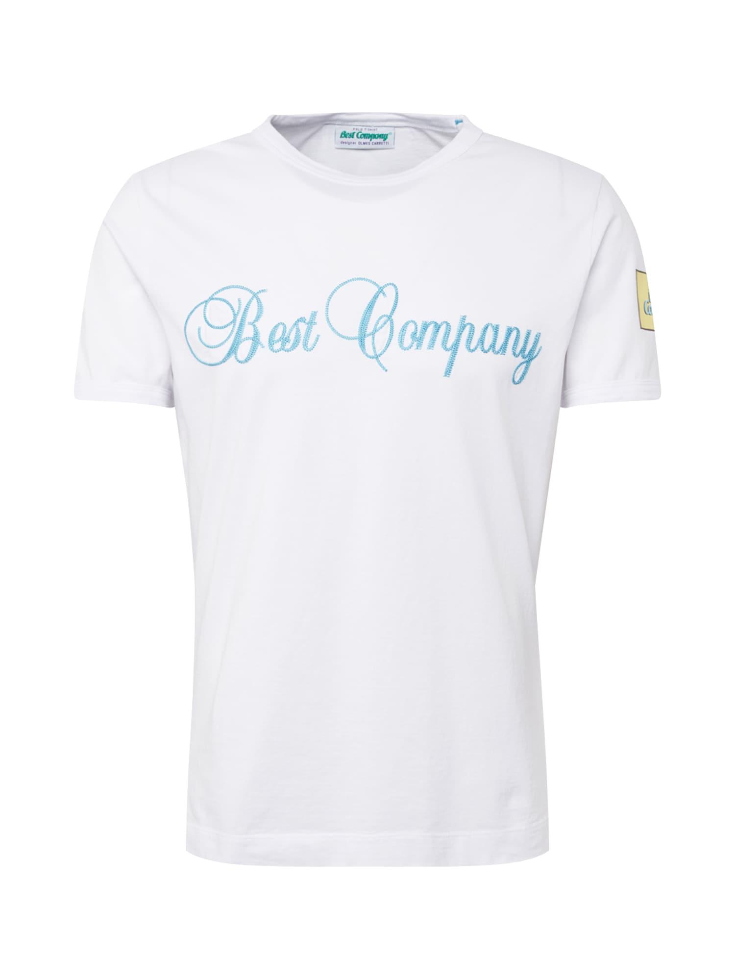 Tričko světlemodrá žlutá šedá bílá Best Company
