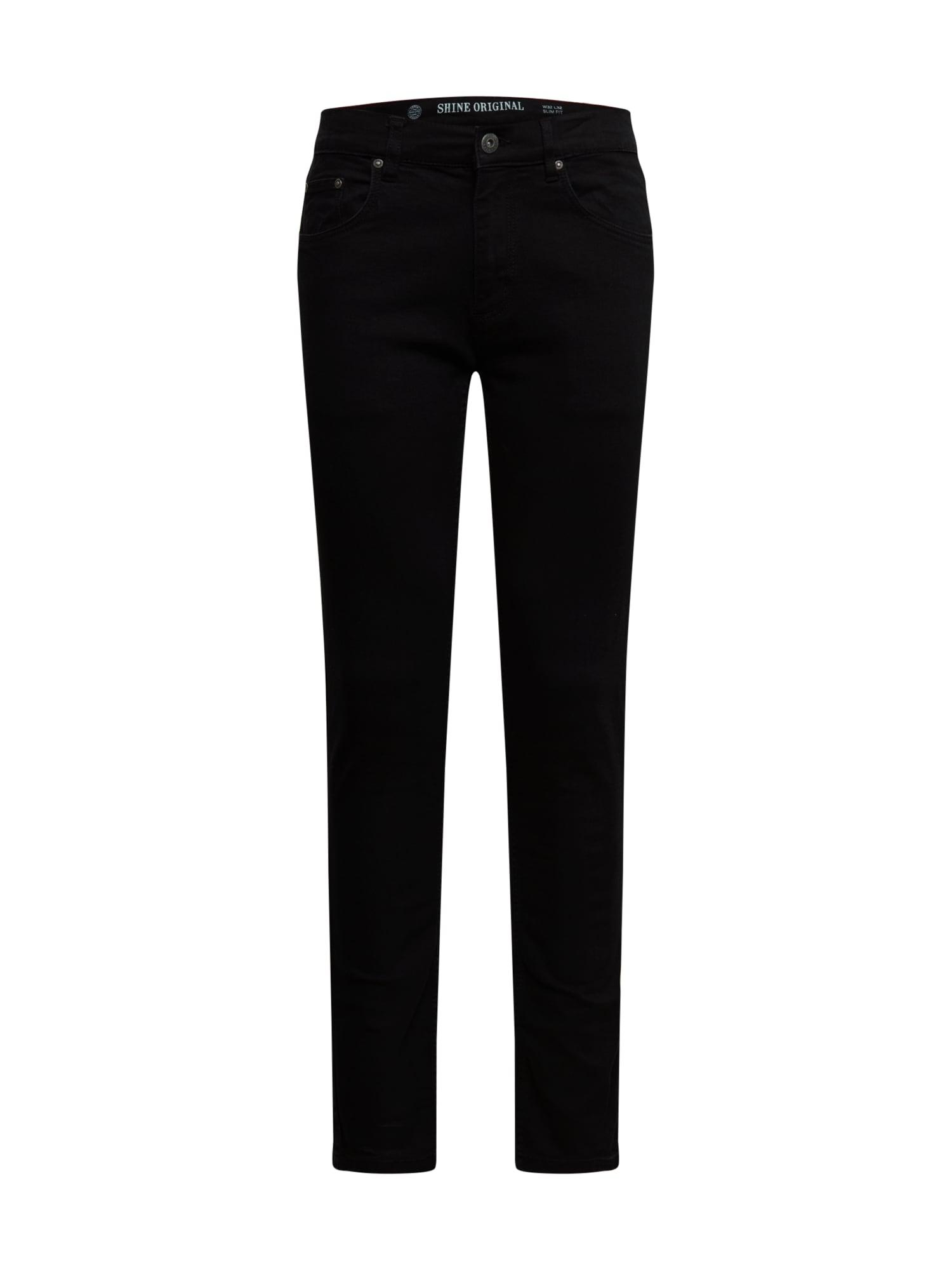 SHINE ORIGINAL Džinsai juodo džinso spalva