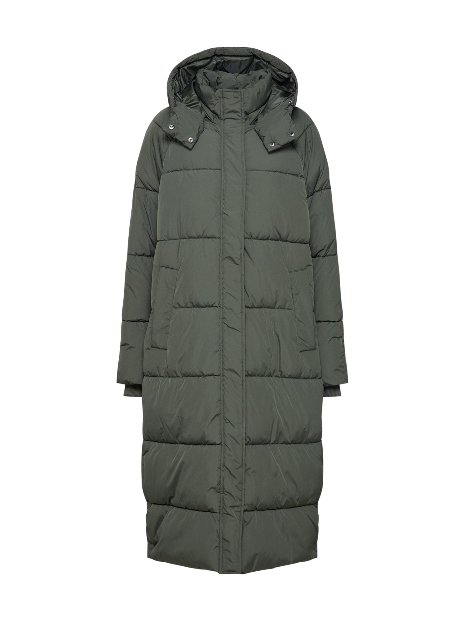 mbym Žieminis paltas 'Ela Slit' rusvai žalia