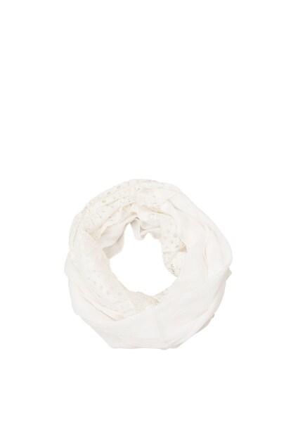 Schals für Frauen - S.Oliver RED LABEL Loop mit Spitze weiß  - Onlineshop ABOUT YOU