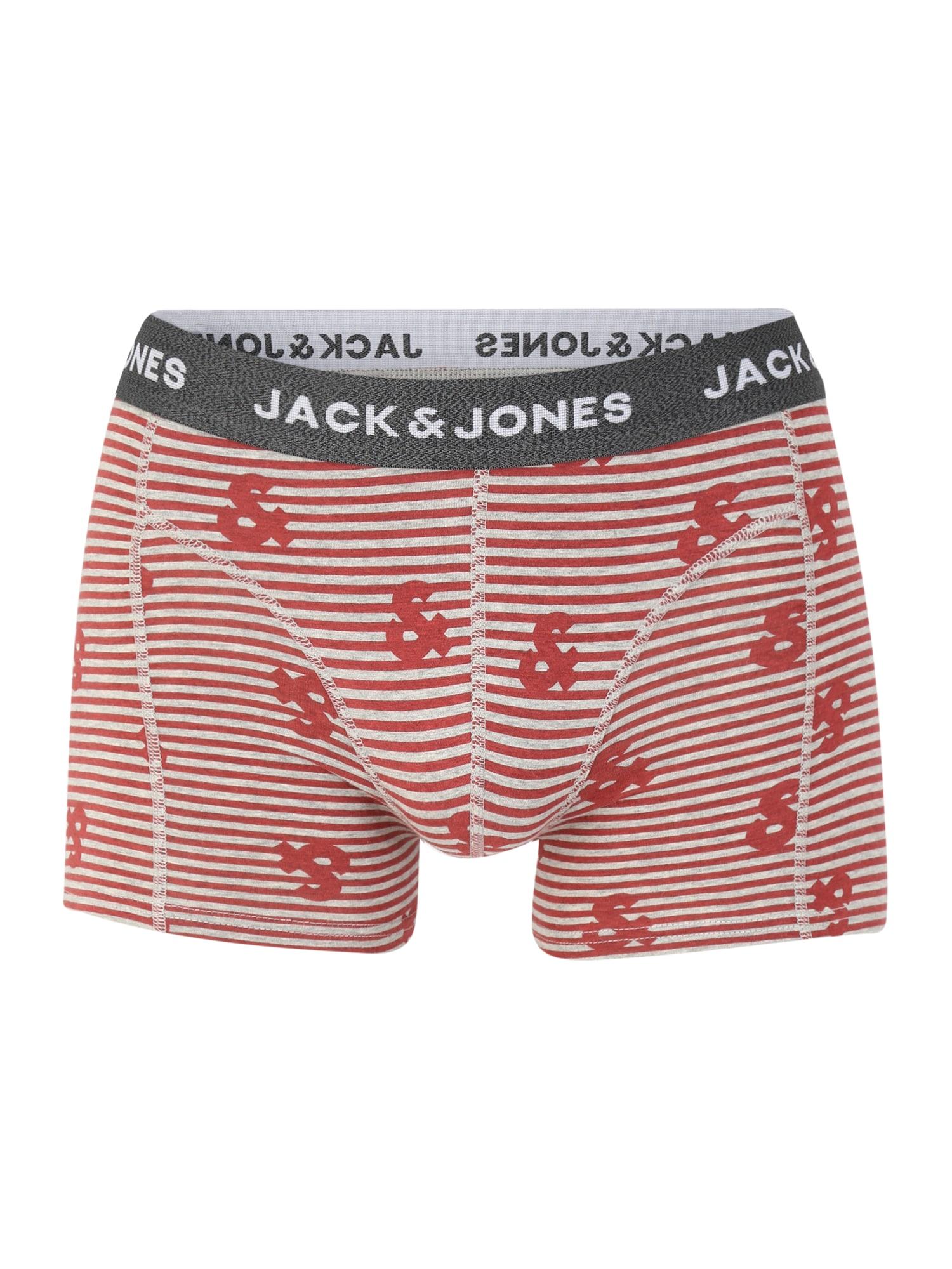 JACK & JONES Boxer trumpikės raudona