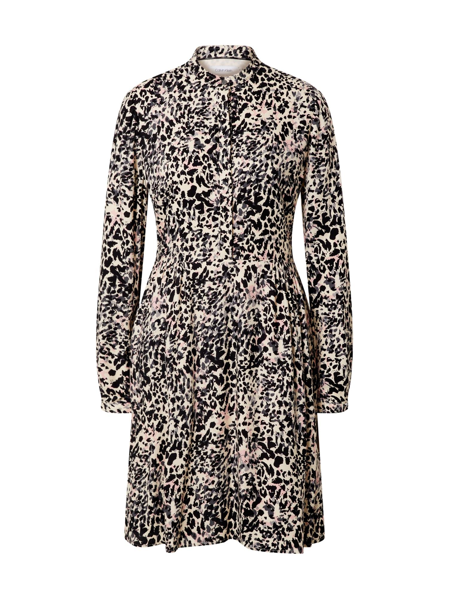 Calvin Klein Palaidinės tipo suknelė juoda / balta