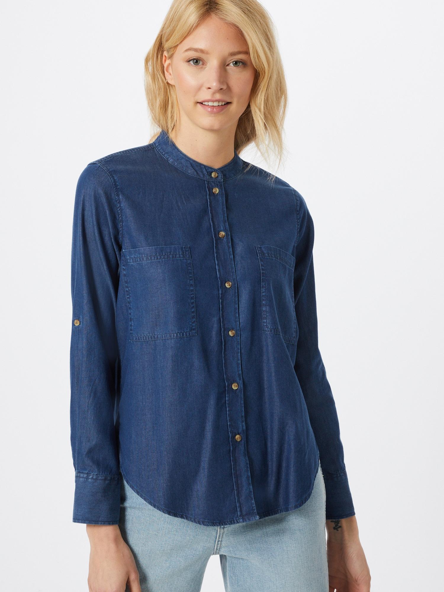 TOM TAILOR Palaidinė tamsiai (džinso) mėlyna