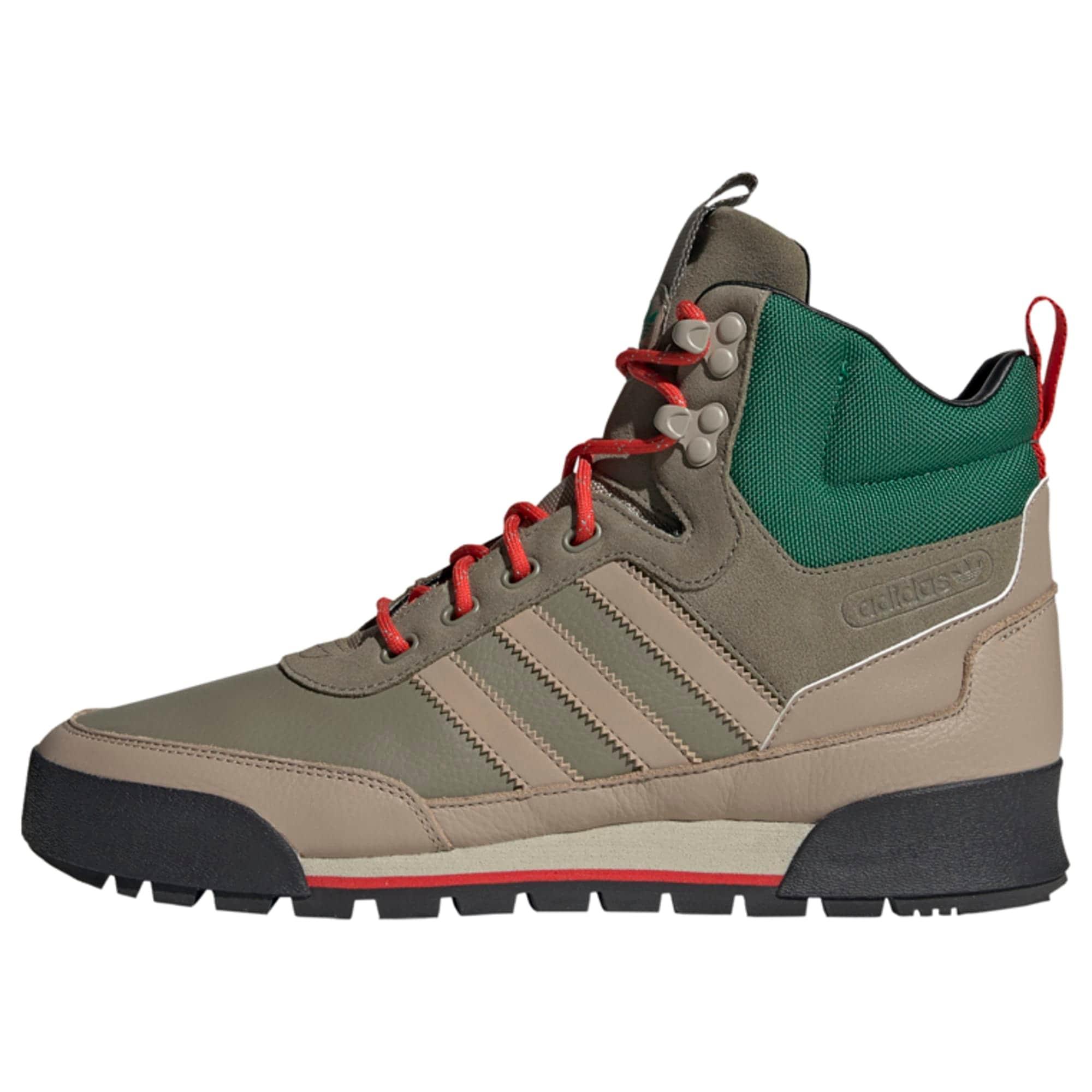 ADIDAS ORIGINALS Auliniai batai su raišteliais tamsiai smėlinė / gelsvai pilka spalva / žolės žalia