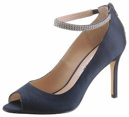 Damen RARE Nina Peeptoepumps blau | 00716142984718