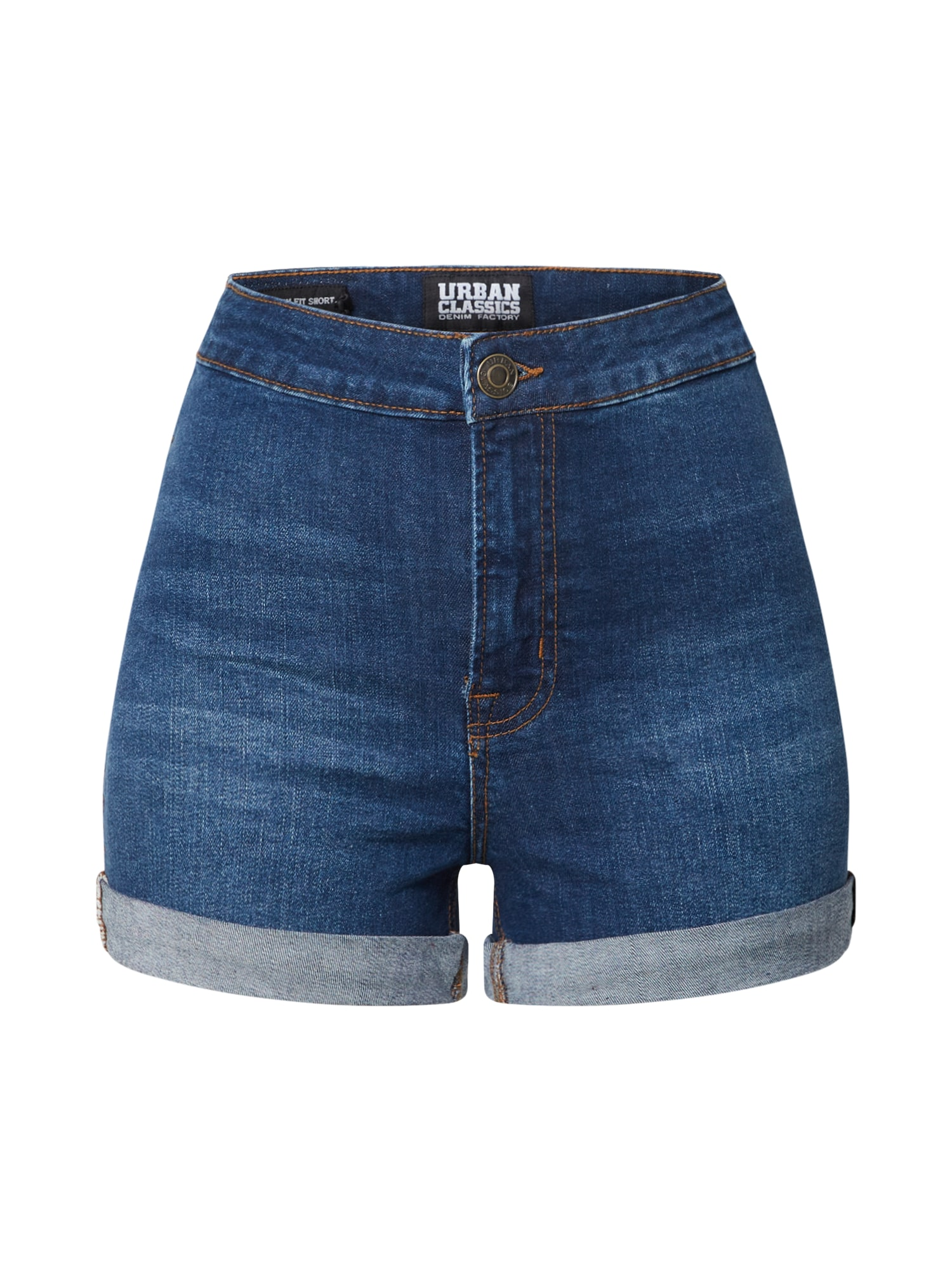 Urban Classics Jeans 'Ladies 5 Pocket Slim Fit Denim Shorts'  denim albastru