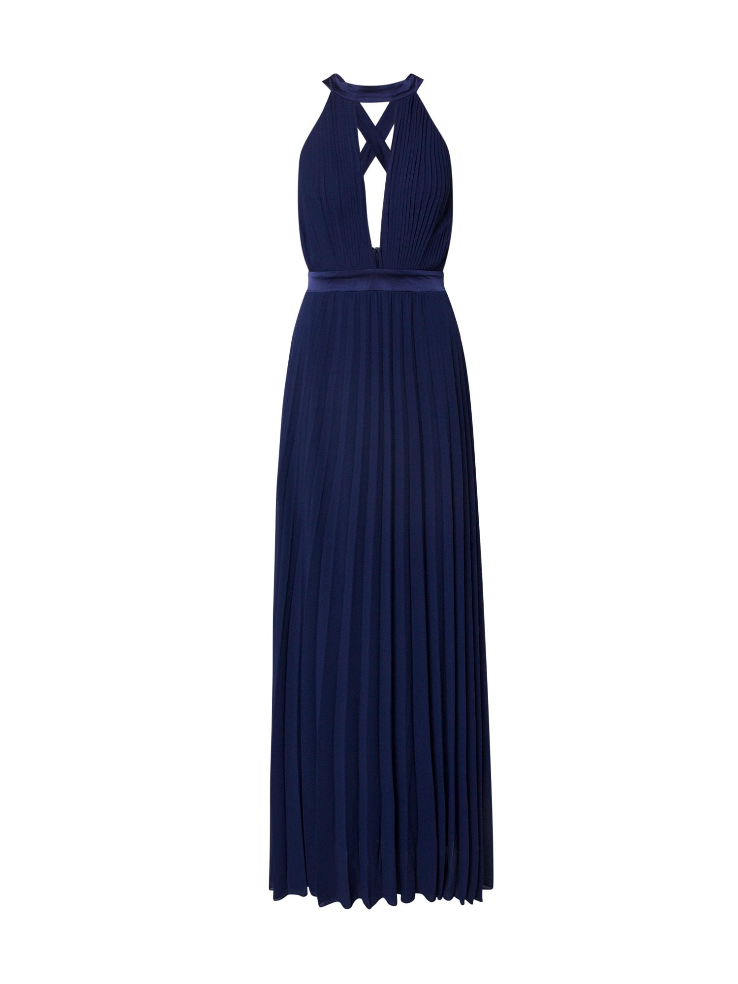 Boohoo Vakarinė suknelė 'Occasion' tamsiai mėlyna / mėlyna