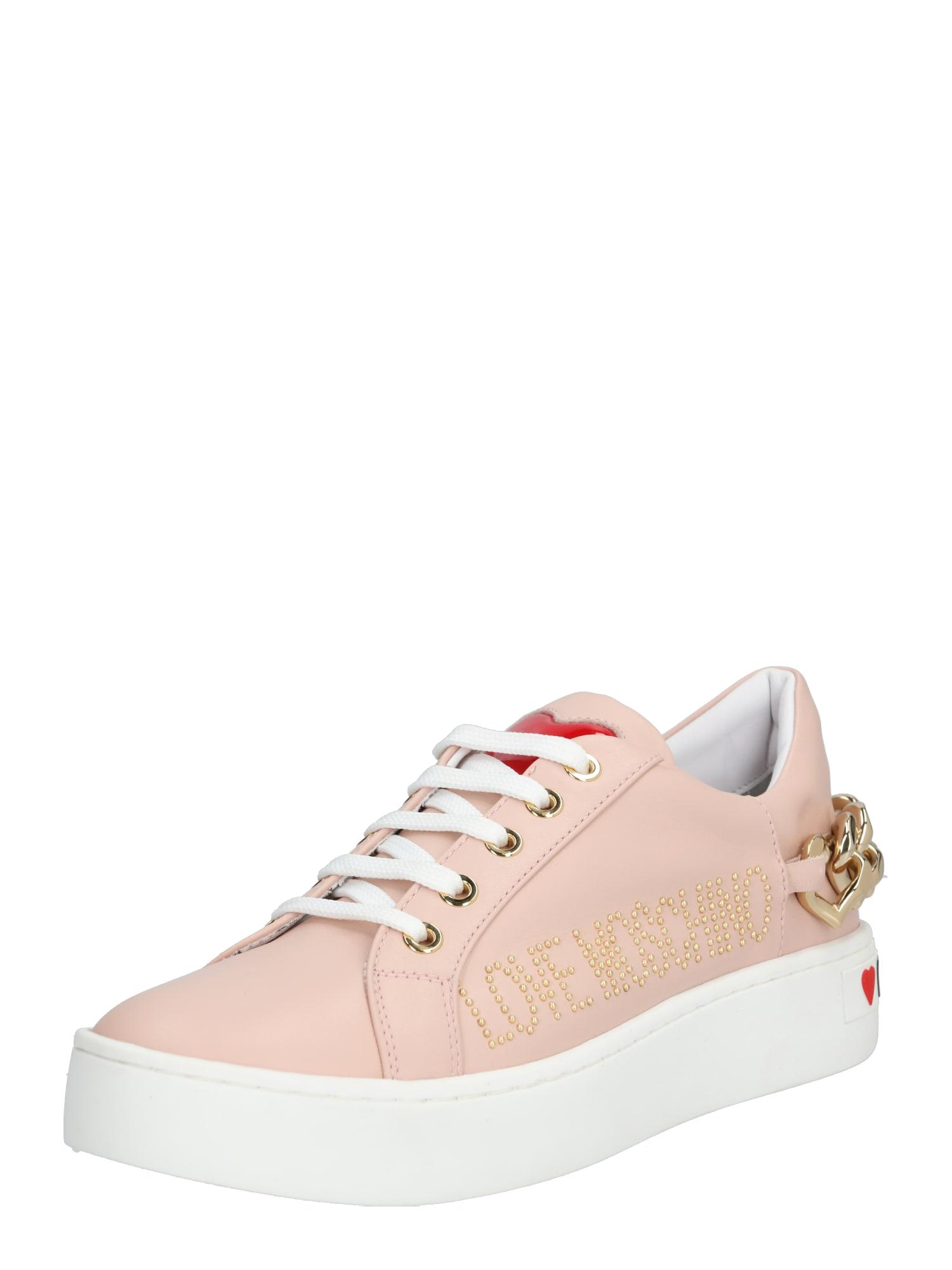 Love Moschino Nízke tenisky 'JA1552'  biela / ružová