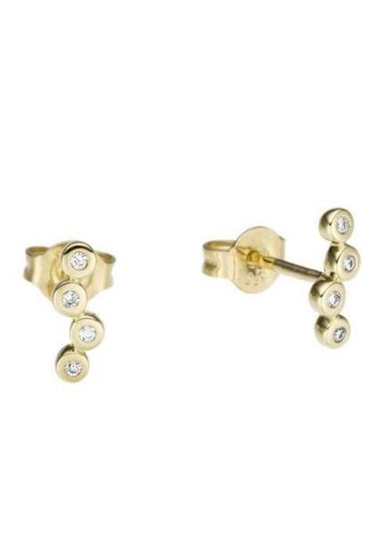 Ohrringe für Frauen - FIRETTI Ohrstecker gold weiß  - Onlineshop ABOUT YOU