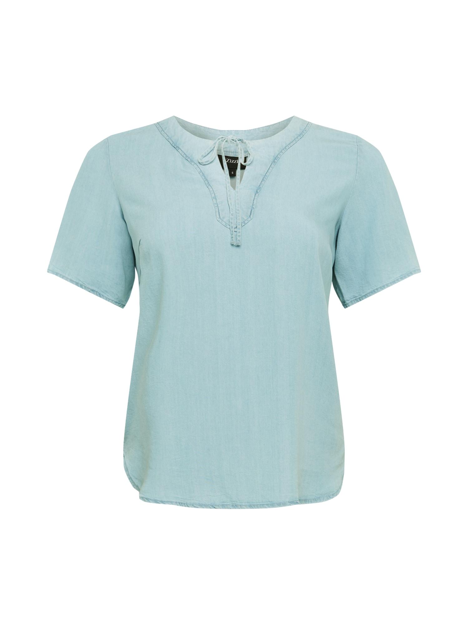 Zizzi Marškinėliai šviesiai mėlyna / tamsiai (džinso) mėlyna