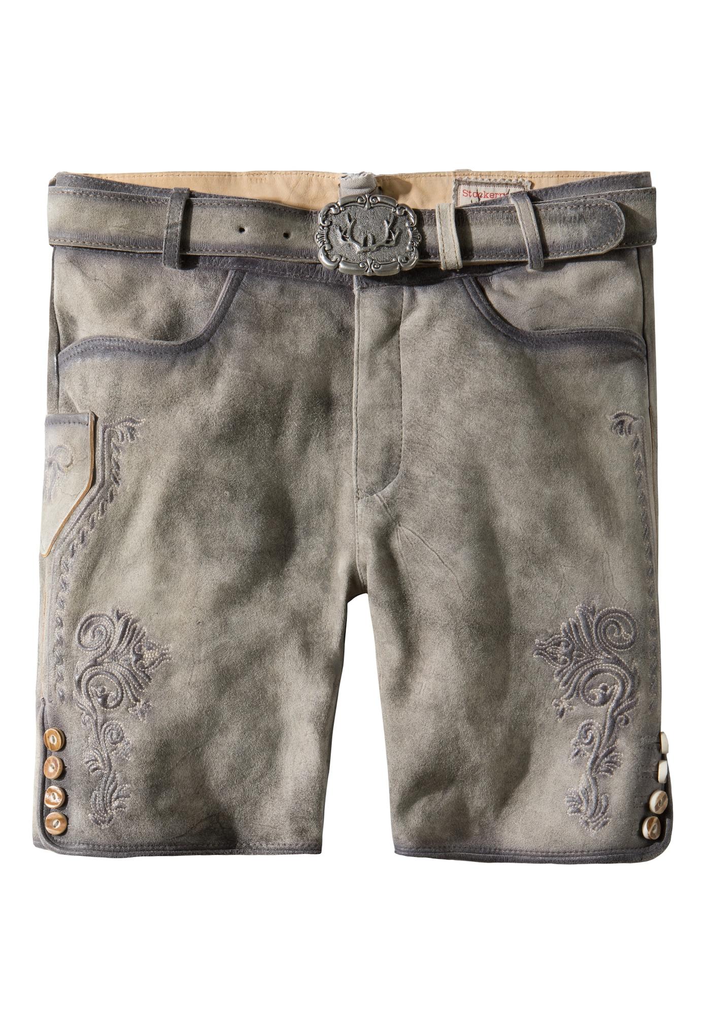 STOCKERPOINT Kelnės su tradiciniais raštais 'Alois2' pilka