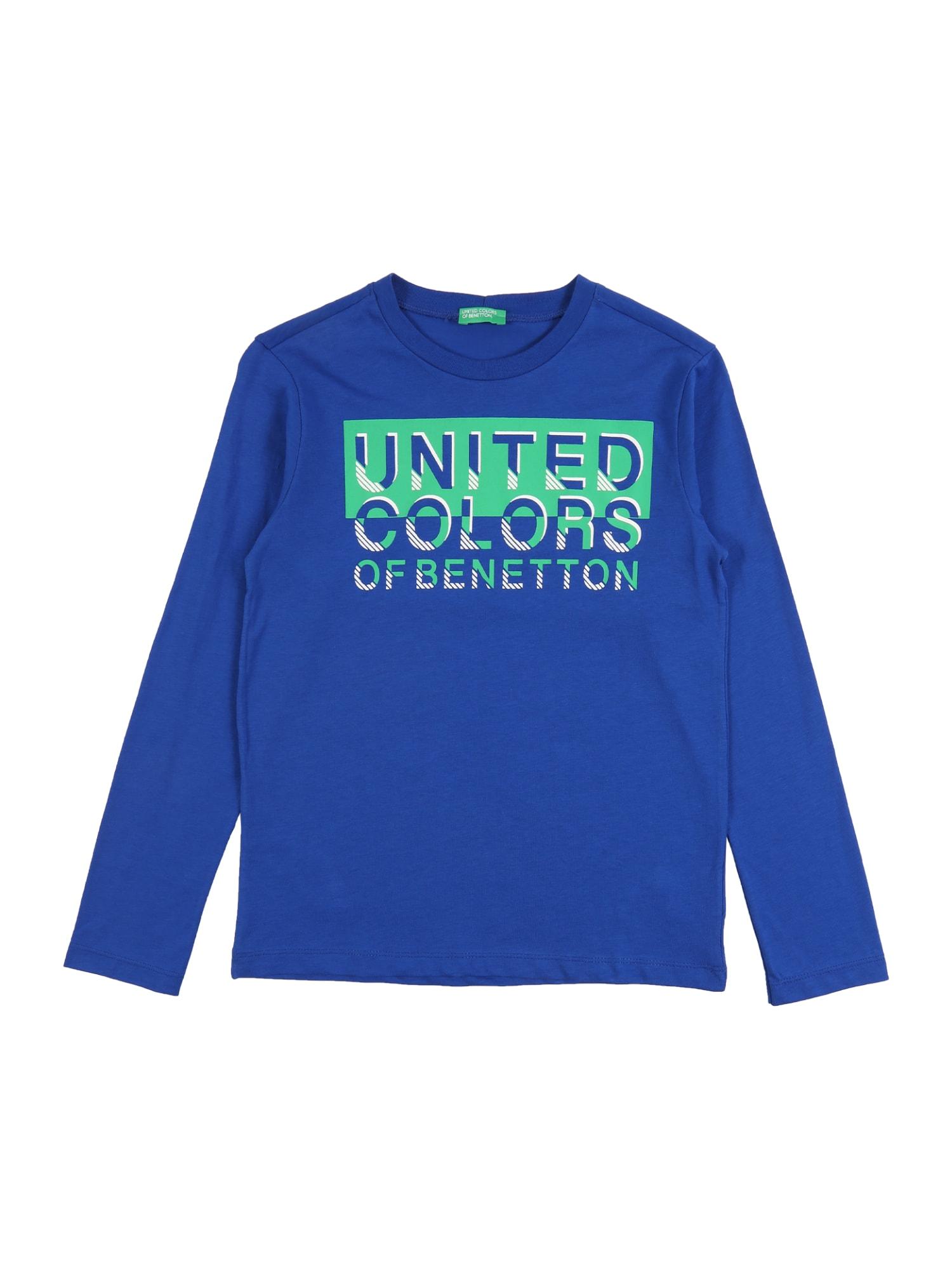 UNITED COLORS OF BENETTON Marškinėliai 'T-SHIRT L/S' mėlyna