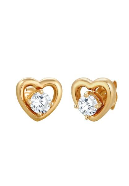 Ohrringe für Frauen - Ohrringe 'Herz', Doppelstecker › ELLI › gold silber  - Onlineshop ABOUT YOU