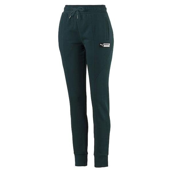 Hosen für Frauen - PUMA Trainingshose 'TZ' tanne weiß  - Onlineshop ABOUT YOU