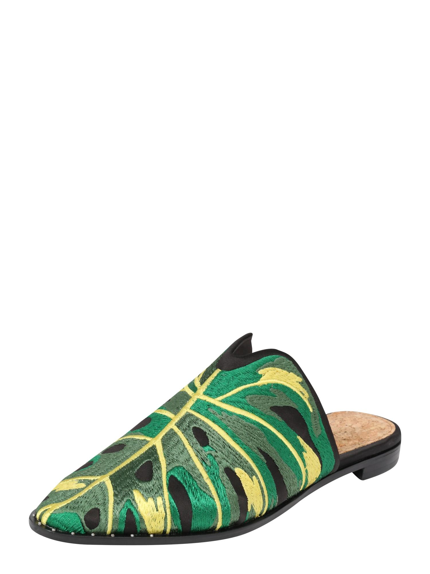 Pantofle Kalin Textile Mule zelená černá SCOTCH & SODA
