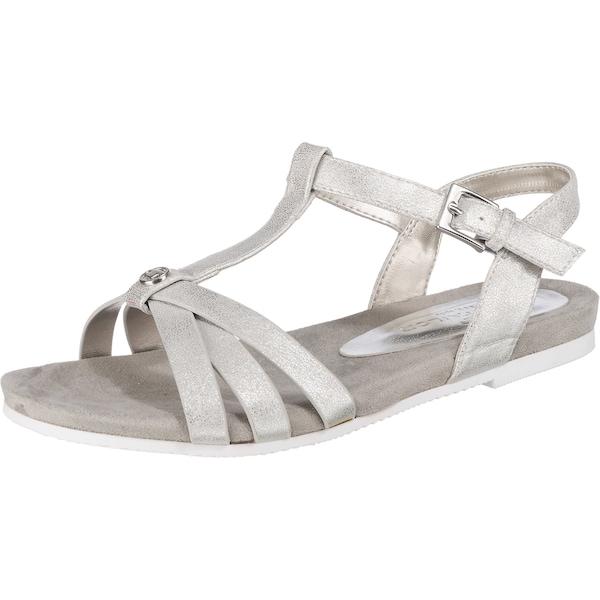 Sandalen für Frauen - TOM TAILOR Sandaletten silber  - Onlineshop ABOUT YOU