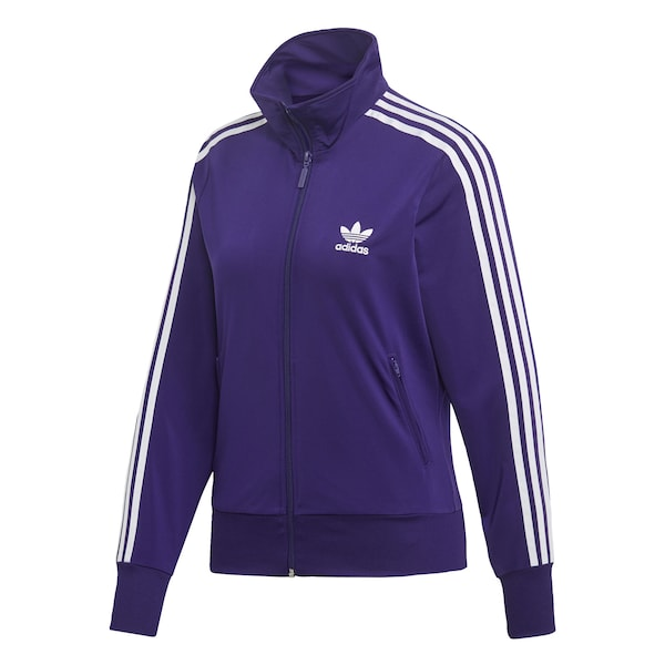 Jacken - Jacke 'Firebird' › ADIDAS ORIGINALS › dunkellila weiß  - Onlineshop ABOUT YOU